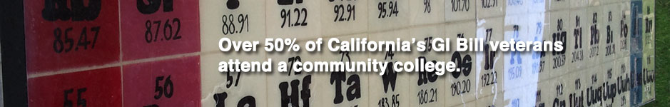 Over 50% of California's GI Bill veterans attend a community college.