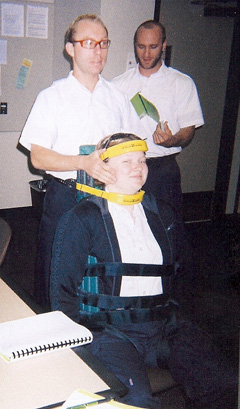 Paramedic Demonstration Wheelchair Restraint