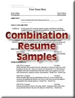 combination resume sample